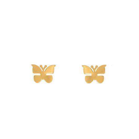 گوشواره میخی طلا طرح پروانه