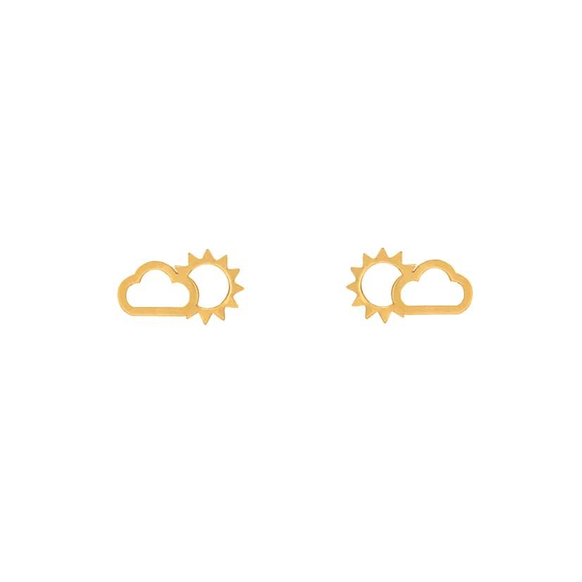 گوشواره میخی طلا طرح ابرو خورشید