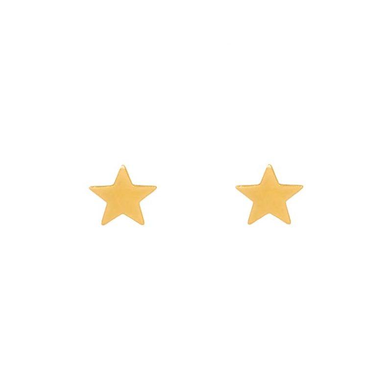 گوشواره میخی طلا طرح ستاره