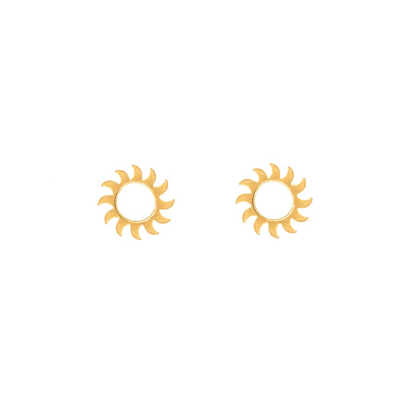 گوشواره میخی طلا طرح خورشید تابان