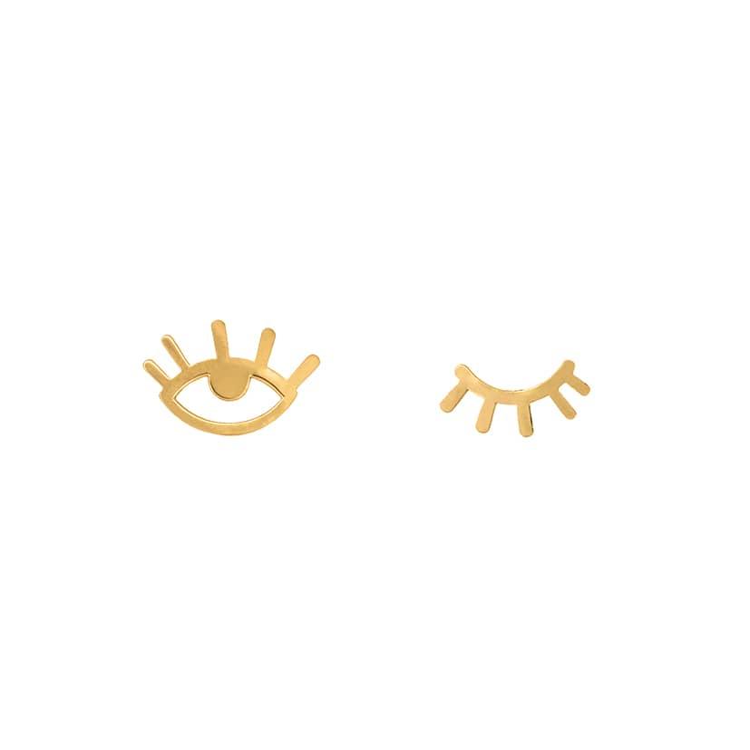 گوشواره طلا میخی طرح چشمک