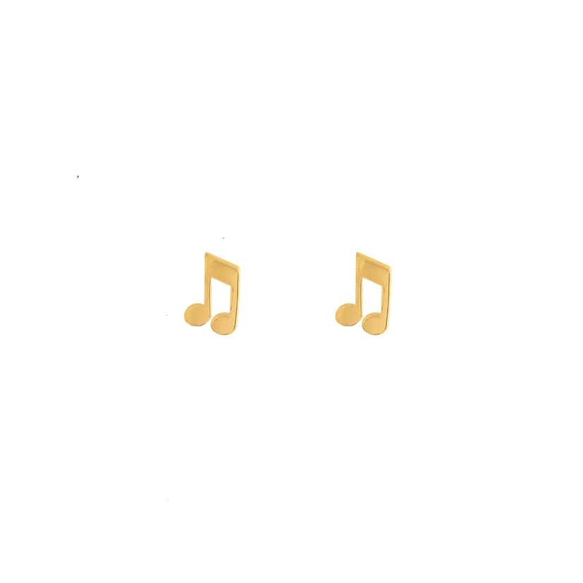 گوشواره میخی طلا طرح نوت موزیک