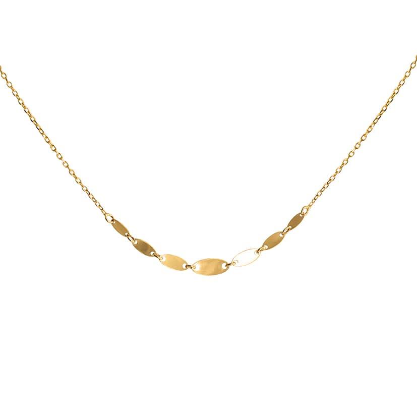 گردنبند طلا مدل پولکی