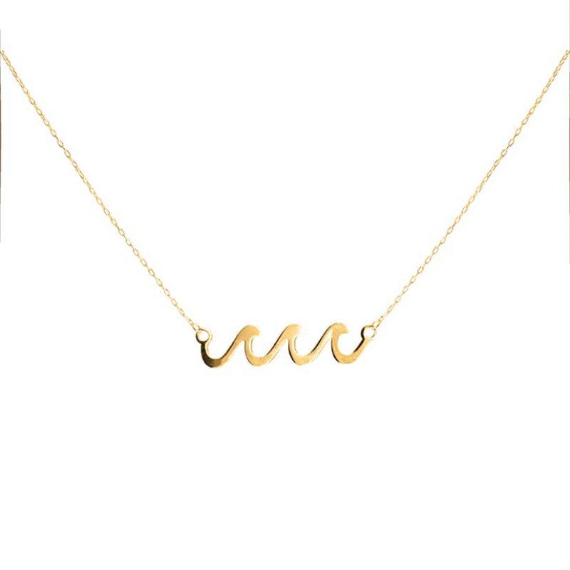 گردنبند طلا مدل موج دریا
