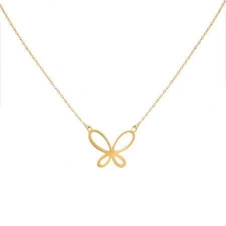 گردنبند طلا مدل پروانه در حال پرواز