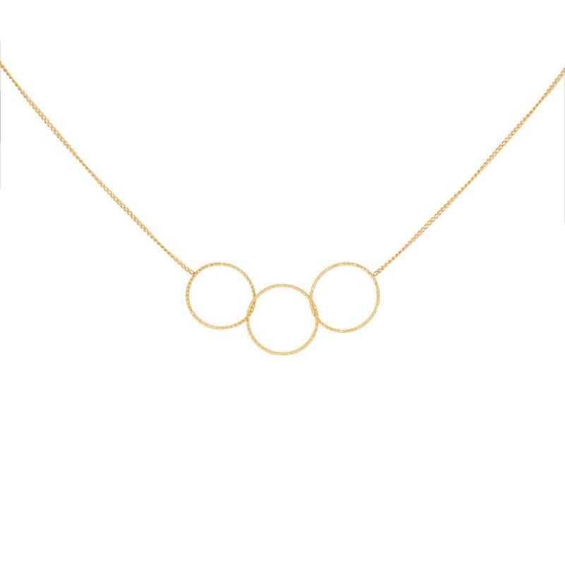گردنبند طلا مدل حلقه های پیوسته
