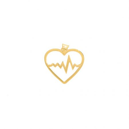 آویز طلا طرح قلب و ضربان