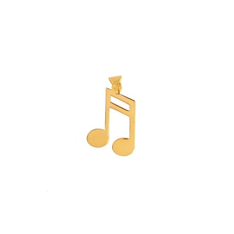 آویز طلا طرح نوت موزیکال