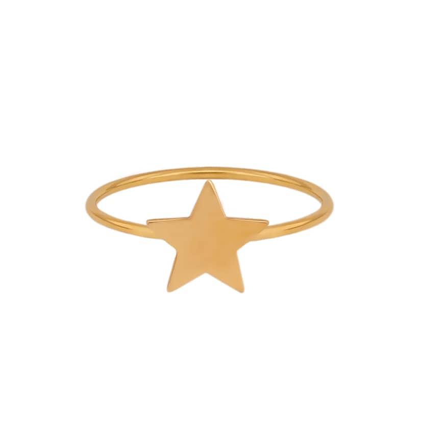 انگشتر طلا با طرح ستاره