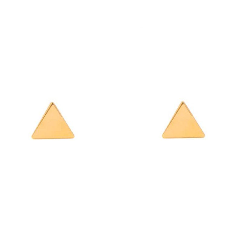 گوشواره میخی طلا طرح مثلث