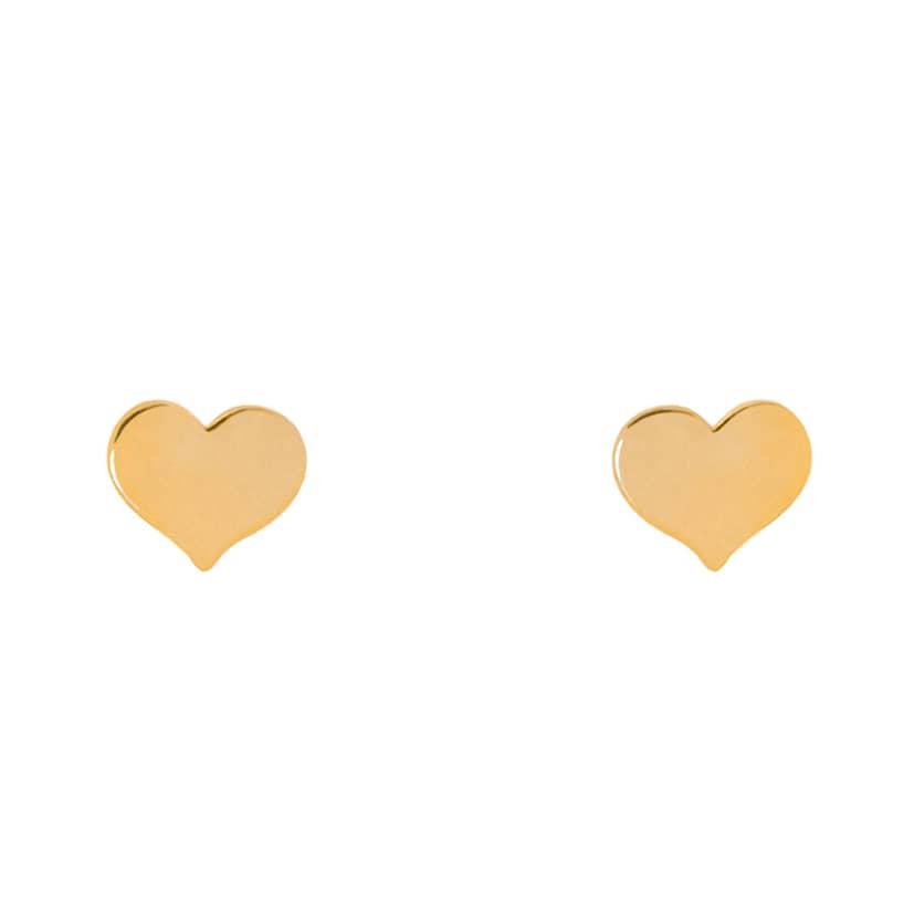 گشواره طلا میخی طرح قلب تو پُر