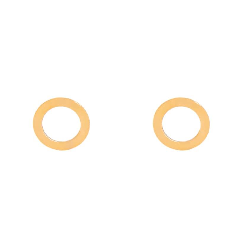 گوشواره طلا میخی دایره ساده