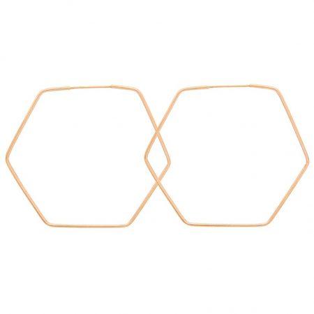 گشواره طلا شش ضلعی