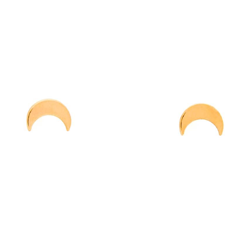 گوشواره میخی طلا طرح ماه