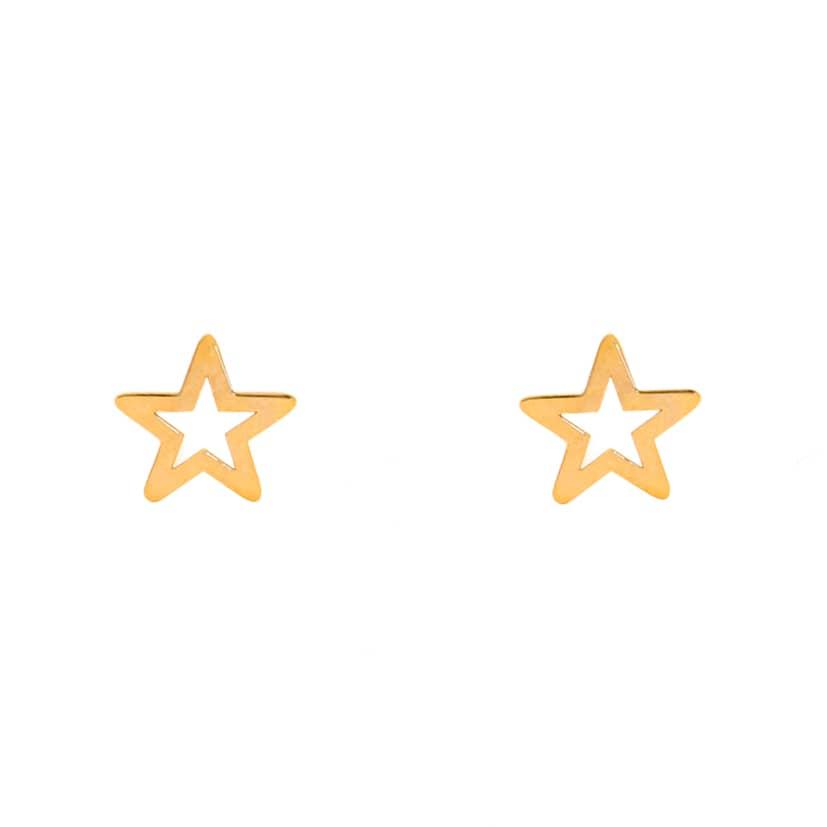 گوشواره طلا میخی طرخ ستاره