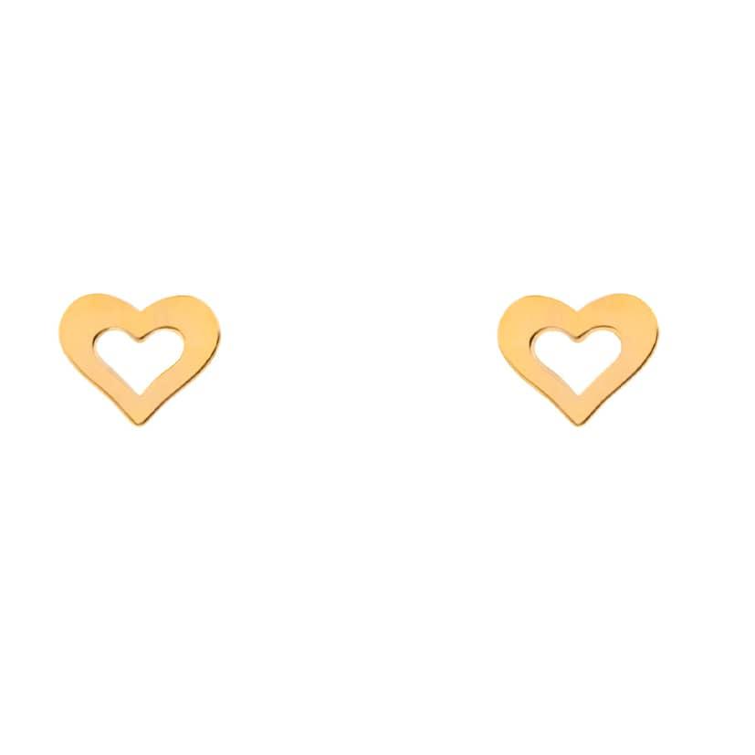 گوشواره طلا میخی طرح قلب