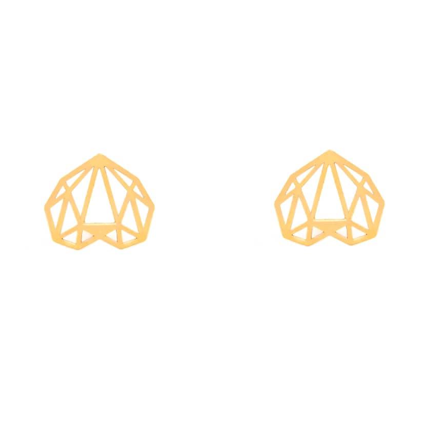 گوشواره طلا میخی طرح الماس