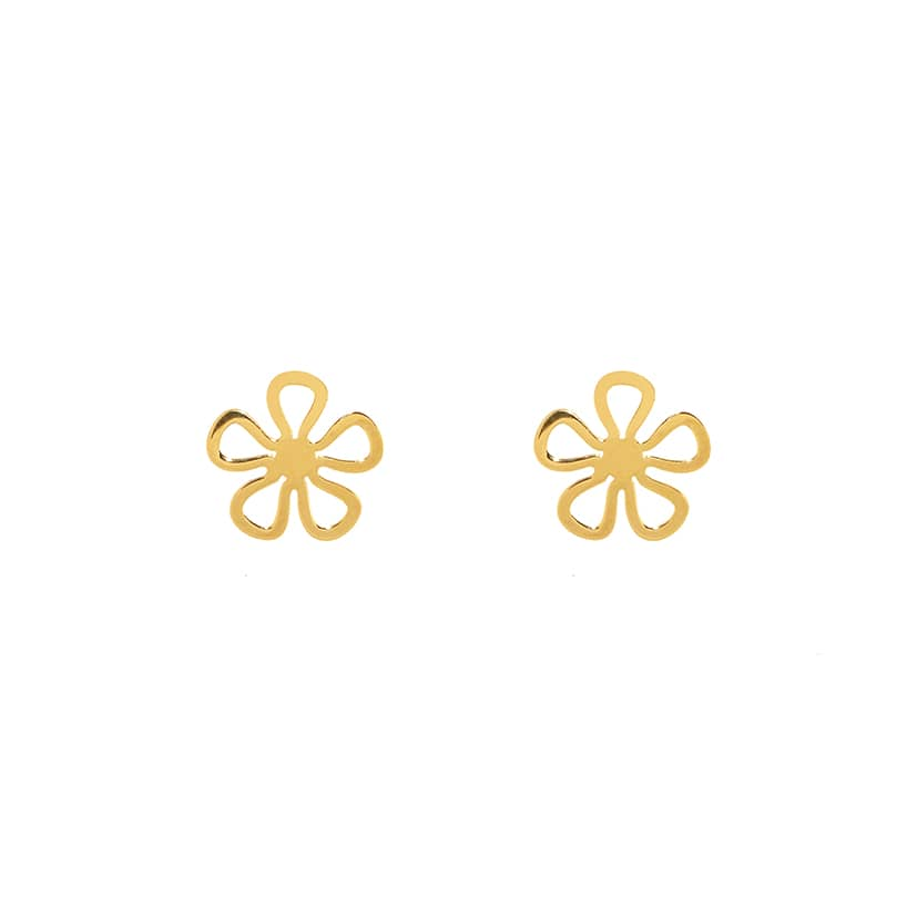 گوشواره میخی طلا طرح گل شبدر