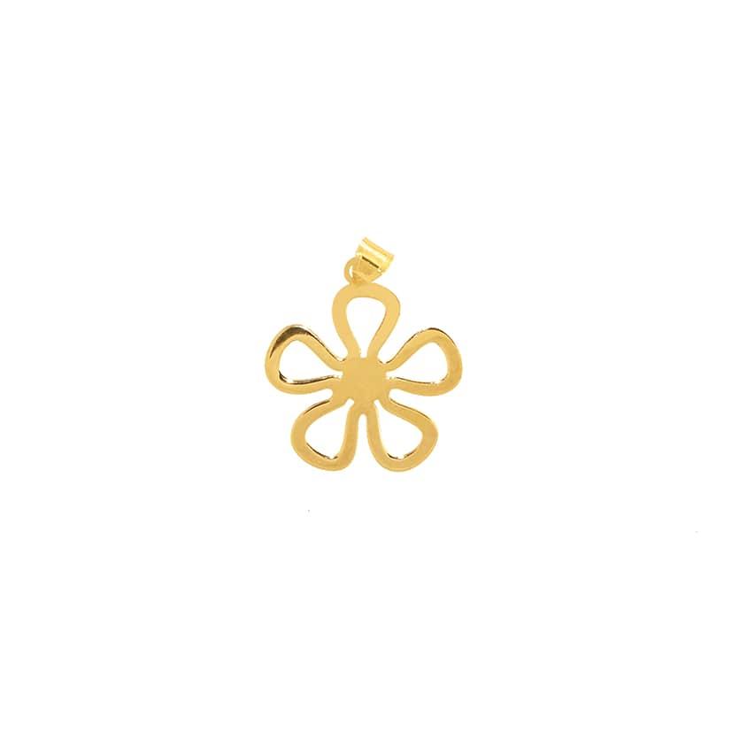 آویز طلا مدل گل شبدر