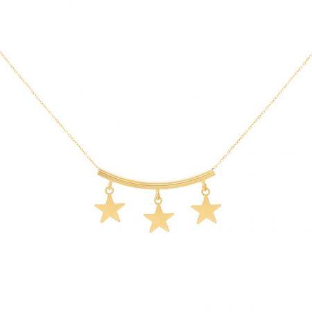 گردنبند طلا مدل سه ستاره